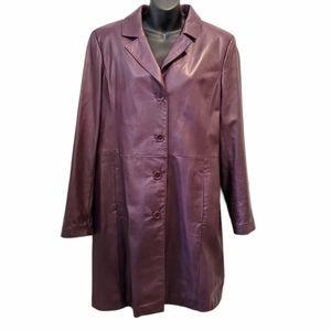 Danier women's 3/4 length leather jacket XL